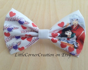 Inuyasha and Kagome Inspired Hair bow  or Bow tie