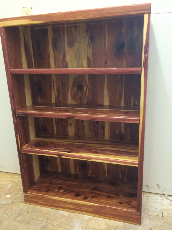 Bookcase cedar bookcase bookshelf cedar bookshelf wooden for Diy book rack