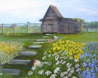 Matted Limited Edition Print Hen House
