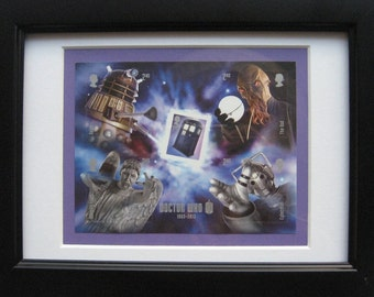Dr Who framed stamps 2013 a must for all fans