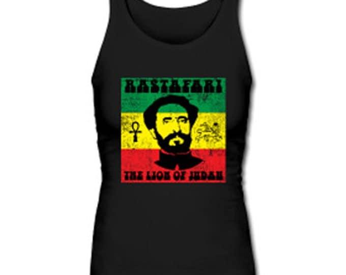 Rastafari Lion of Judah Women's Premium Tank Top - Black