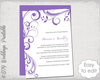 il_340x270.722813471_h9ig birdcage wedding invitation template printable wedding,Lavender Wedding Invitation Templates