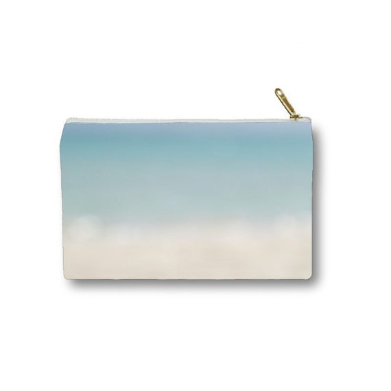 Light Blue Clutch, Laptop Bag, Make Up Storage, Accessory Bag, Cosmetic Pouch, Blue Ombre, Beach Colors, Bridesmaid's Gift, Wedding Colors
