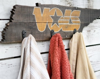 Rustic University of Tennessee Vols Towel/Coat Rack