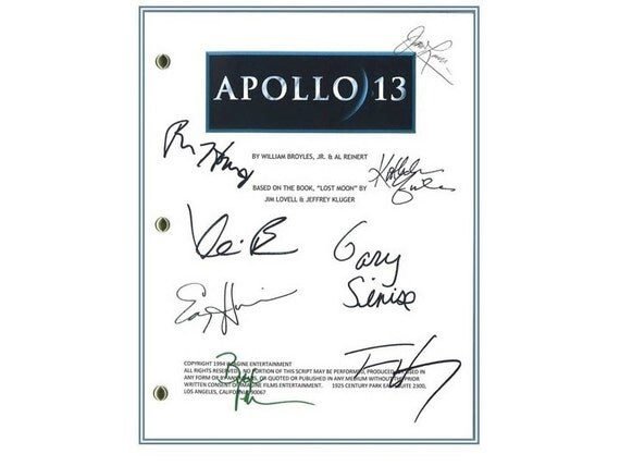 apollo 13 signed screenplay autographed ron howard jim