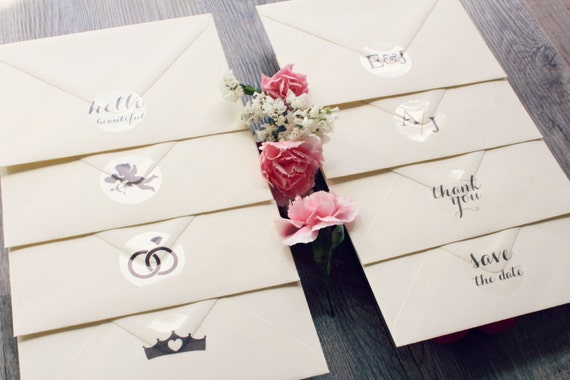 Wedding Invitation Stickers: Clear Stickers For Wedding Invitation Envelopes • Seal It