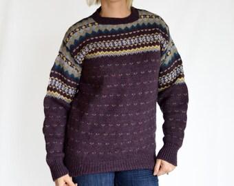 Vintage Wool Sweater / Purple / Cambridge Dry Goods Company