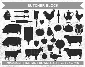 Butcher Block - Digital Clipart