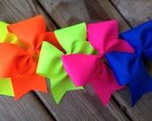 Neon cheer bow