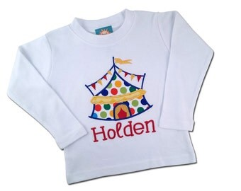 Boy's Circus Shirt with Embroidered Name - F22