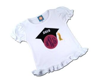 Girl's Preschool Graduation Shirt, Kindergarten Graduation Shirt, Graduation Shirt - Customizable Colors