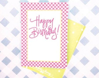Gingham Birthday Tags (Qty 10)
