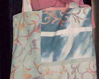 Hand made tote bag. Use it for school books, shopping, a purse or what every you desire.