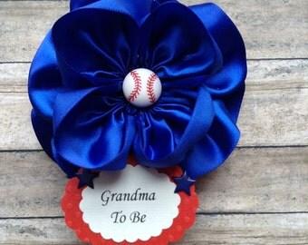 Baseball Grandma To Be Corsage or Baseball Daddy To Be Corsage Baseball Corsage Baseball Theme Corsage Baby Shower Baseball Theme