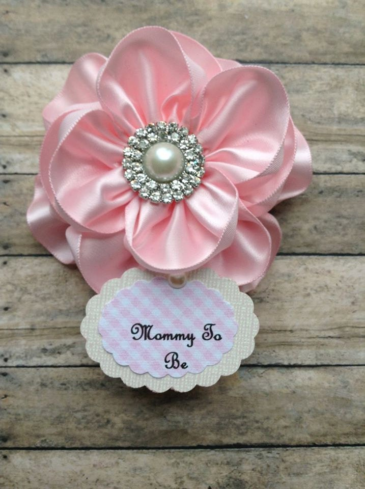 shabby chic light pink mommy to be corsage it 39 s a girl