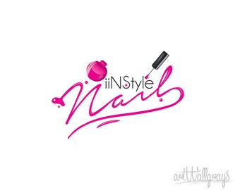 Premade logotype , Photography logo and Watermark - Nail Polish logo