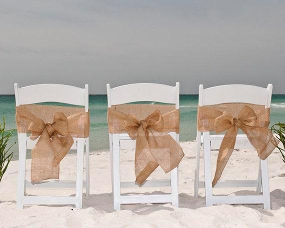 Beach Wedding Chair Sashes
