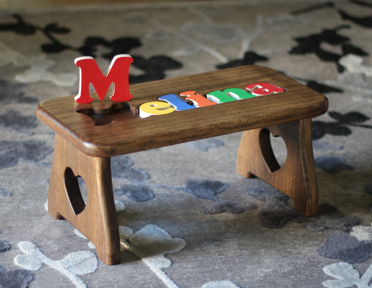 Personalized Name Puzzle Step Stool Pick Your Finish First