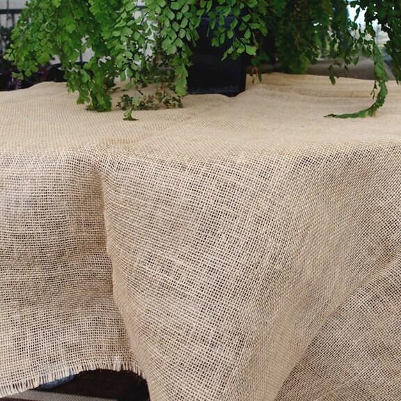 Burlap table cloth fabric 60 inch x 60 inch for 60 burlap
