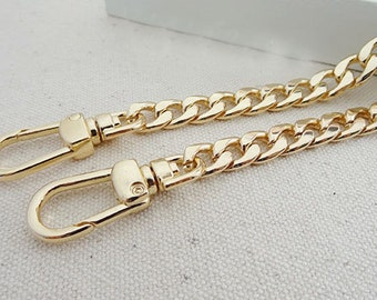 9mm wide light weight golden chains for purse,chain shoulder.chain for bag