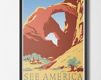 Vintage Travel Poster See America