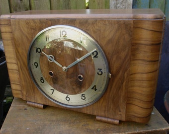 Vintage German Art Deco Mantel Clock – c.1934
