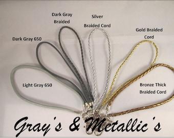 Detachable Wrist Strap (Grays & Metallics)