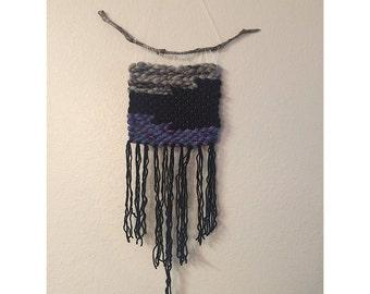 Purple & Black Woven Wall Hanging