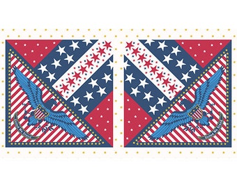 SALE Patriotic - Star Eagle Panel - Quilts of Valor - Andover (A-7786-R)