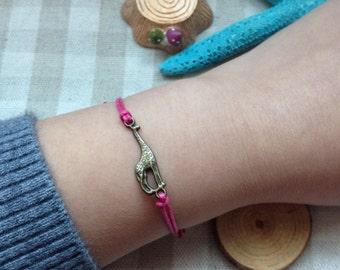 7 Colors,Giraffe bracelet.antique bronze.Cute bracelet,girl gift,friendship gift
