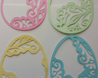 Easter Eggs Paper Cutout 10 inchs
