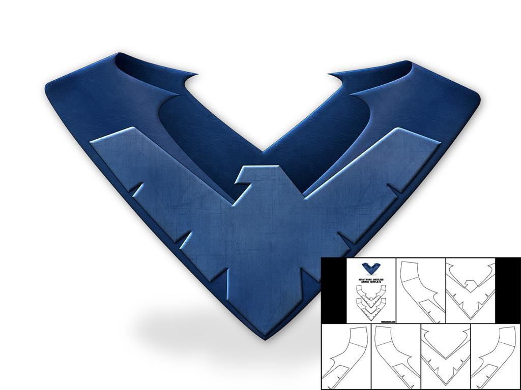 template for nightwing shoulder armor. Black Bedroom Furniture Sets. Home Design Ideas