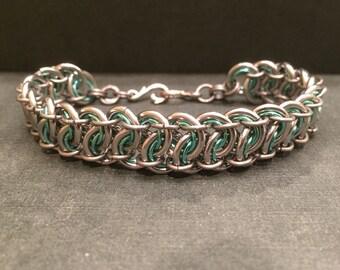 Garter weave bracelet.