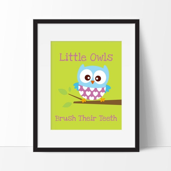 Items Similar To Owl Decor Owl Bathroom Decor Little
