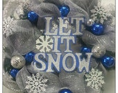 Let It Snow Christmas Holiday Wreath
