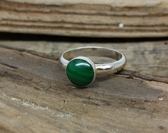 Handmade Sterling Silver Malachite Ring