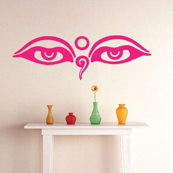 Les yeux de bouddha vinyl autocollant sticker - Stickers bouddha geant ...