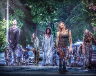 Zombie Walk - Inspired by the walking dead, zombies, zombie art, zombie life, twd, zombie apocalypse,