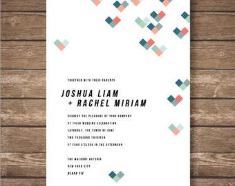Printable 8-Bit Wedding Invitation Suite