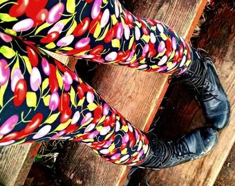 Juicy cherry Leggings pants lycra cherries