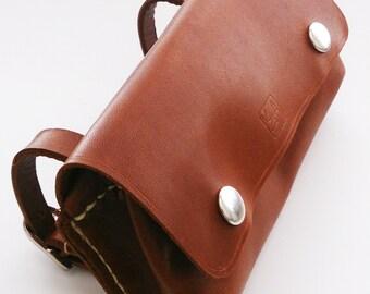 Leather Bike Saddle Pouch Bag
