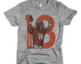 Peyton Manning Officially Licensed NFLPA Denver T-shirt Unisex XS-2XL Manning Sketch 18 O