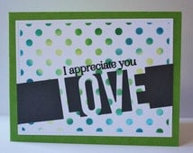 Appreciation Card, Just Because Card, Love Note