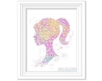 Barbie Art Print Makeup Fanatic Word Art Watercolor Fashion Barbie Poster Barbie Illustration Barbie Painting Makeup Wall Art MUA (No.134)