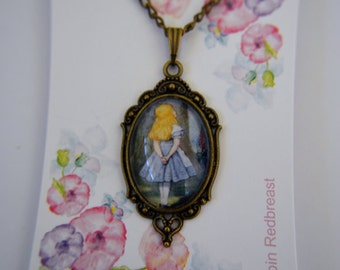 Alice in Wonderland Alice necklace