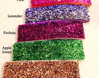 NEW!!! Large snap clips w/ foil glitter ribbon in choice of 11 colors