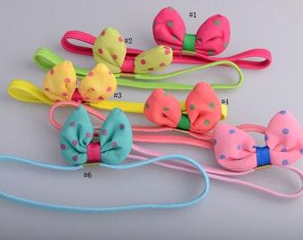 Free Shipping Bunny Girl Headbands 12pcs/lot Pink and Blue Headband Party Headband Birthday Headband Photo Prop headband