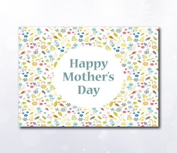 This is an image of Zany Mother's Day Card Printable Pdf