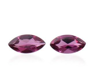 Rhodolite Garnet Marquise Cut Set of 2 Loose Gemstones 1A Quality 6x3mm TGW 0.45 cts.
