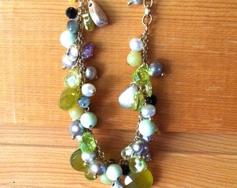 Fresh green bracelet mix gems